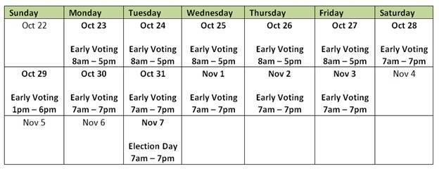 2017 Early Voting Calendar Cropped