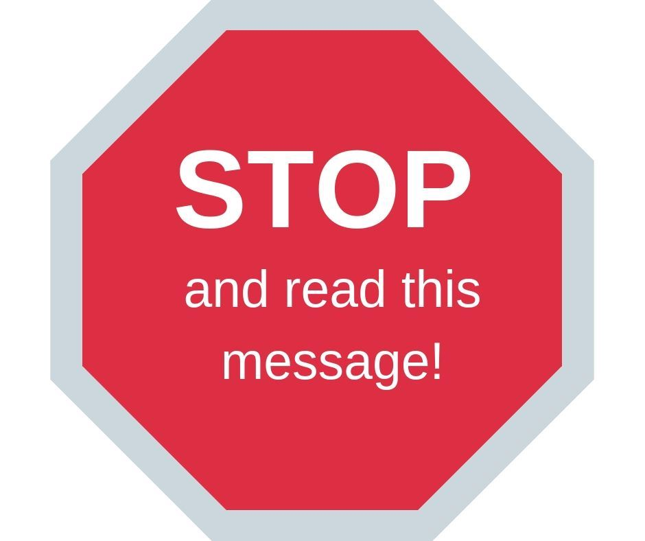 STOP And Read This Message
