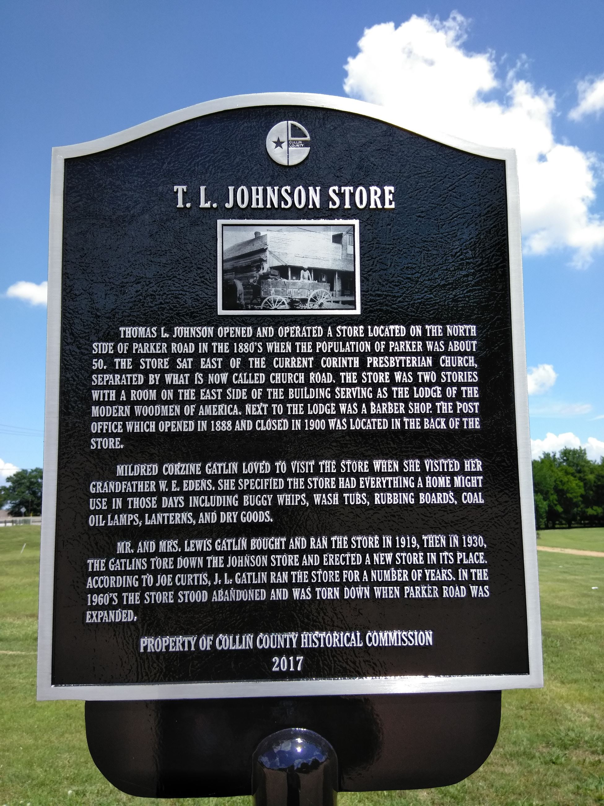 T L Johnson Store Historical Marker